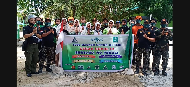 1.000 Masker untuk Negeri Bersama NU Peduli Kabupaten Landak